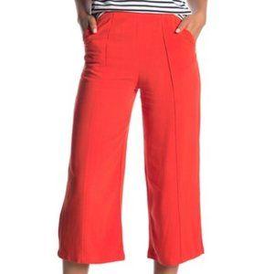 Good Luck Gem High Waist Linen Gaucho Pants NWOT